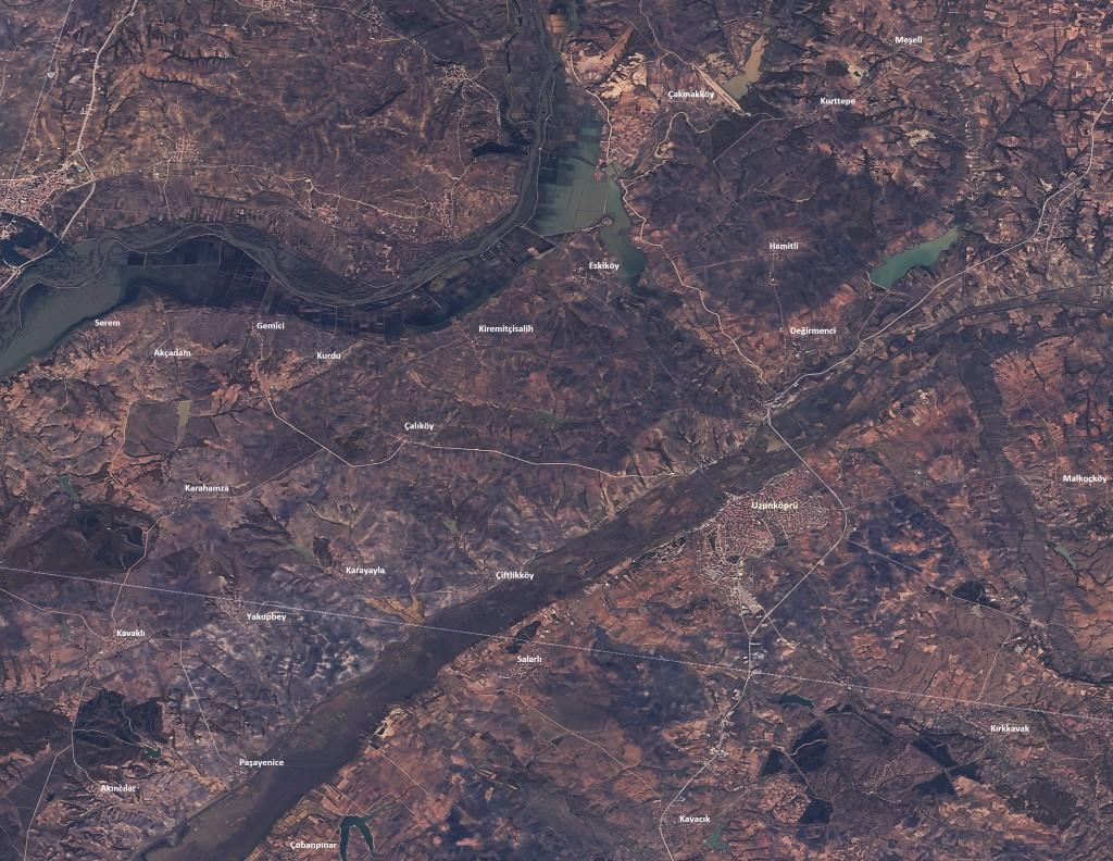 04.11.2015 tarihli RASAT uydu görüntüsü