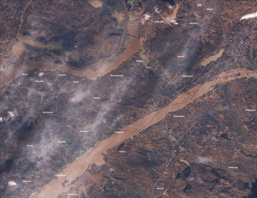 02.02.2015 tarihli RASAT uydu görüntüsü