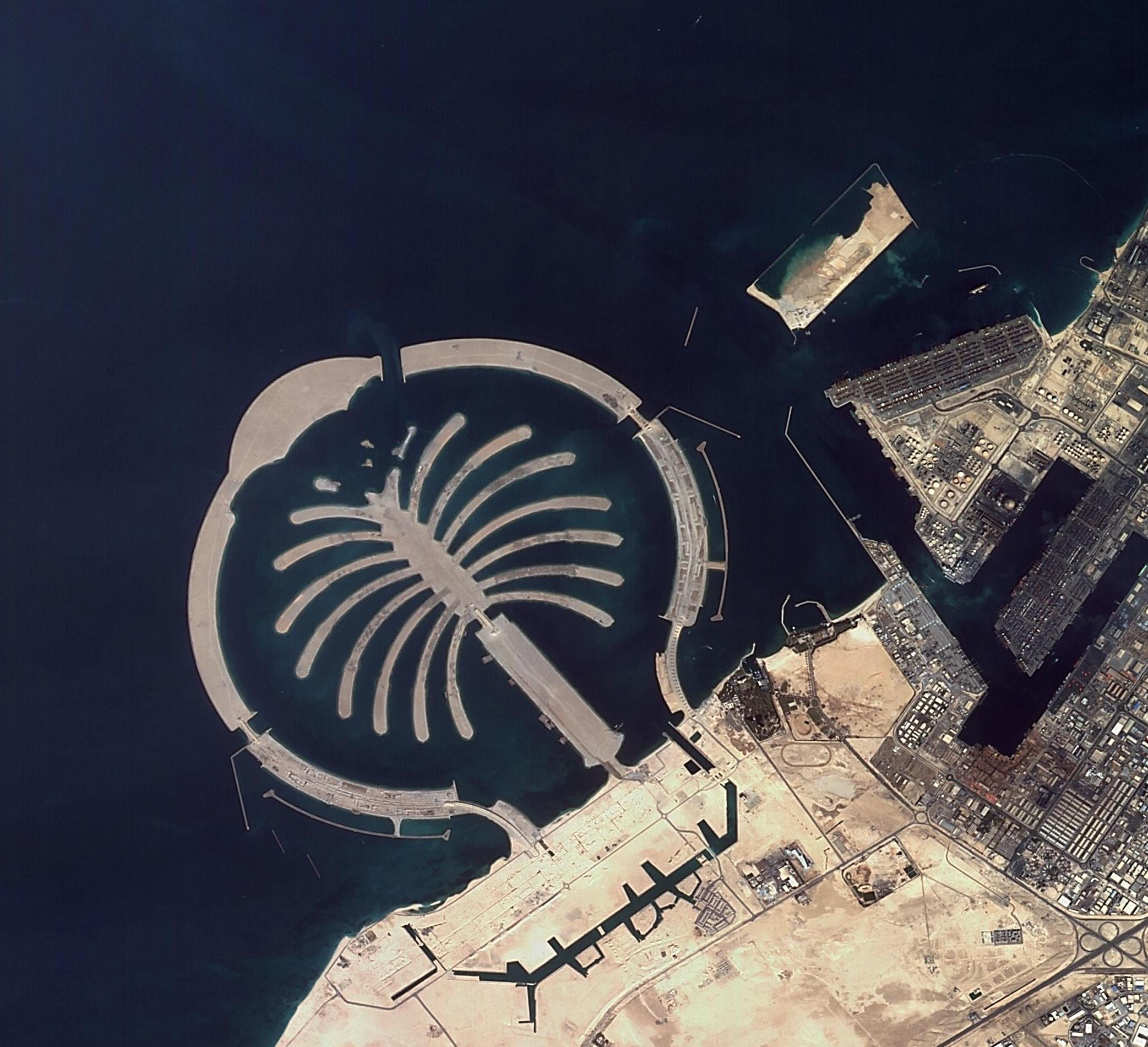 Palmiye ve Dünya Adaları Dubai 2 Ocak 2015