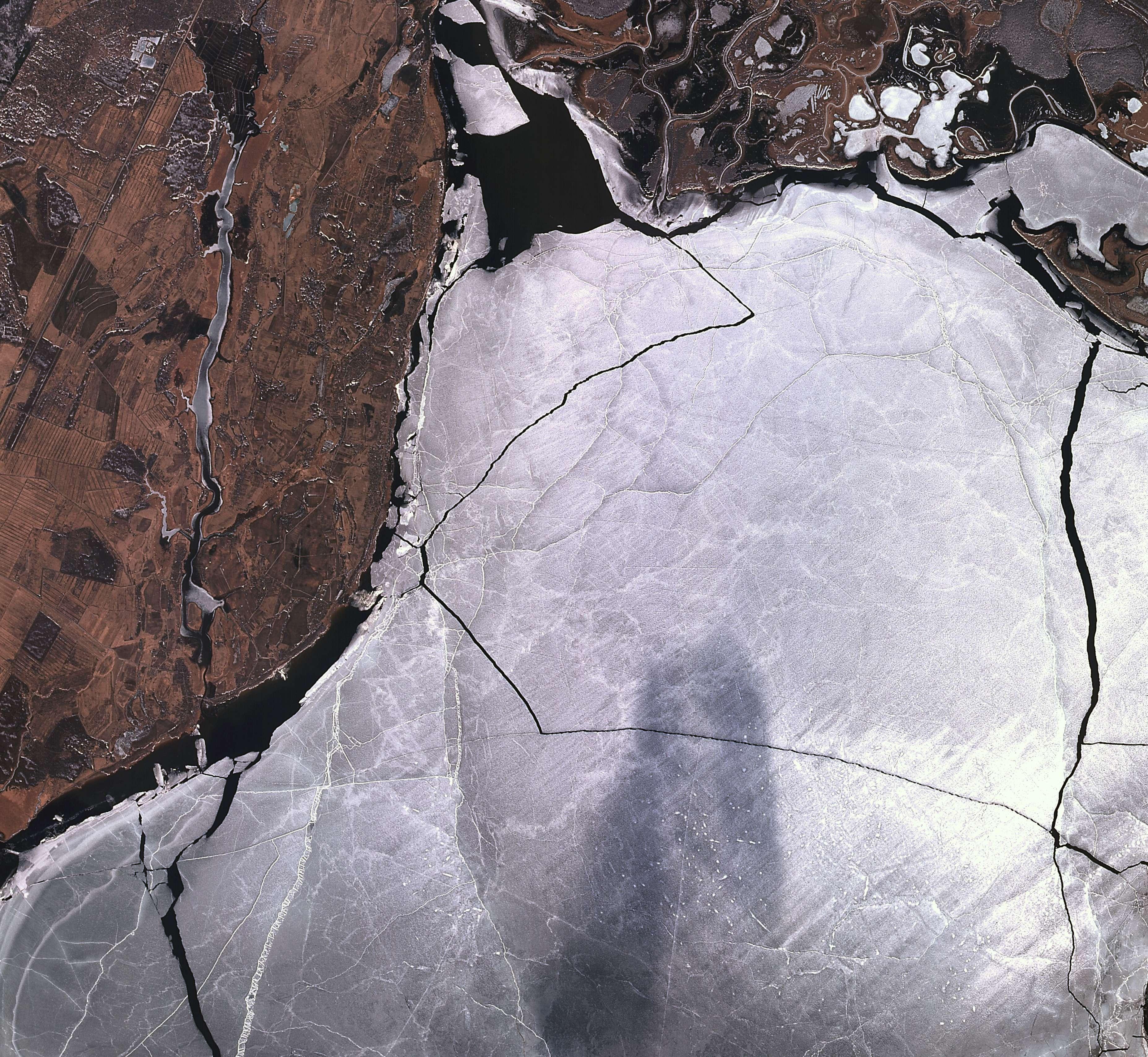 Novgorod-İlmen Gölü Rusya 18 Mart 2015