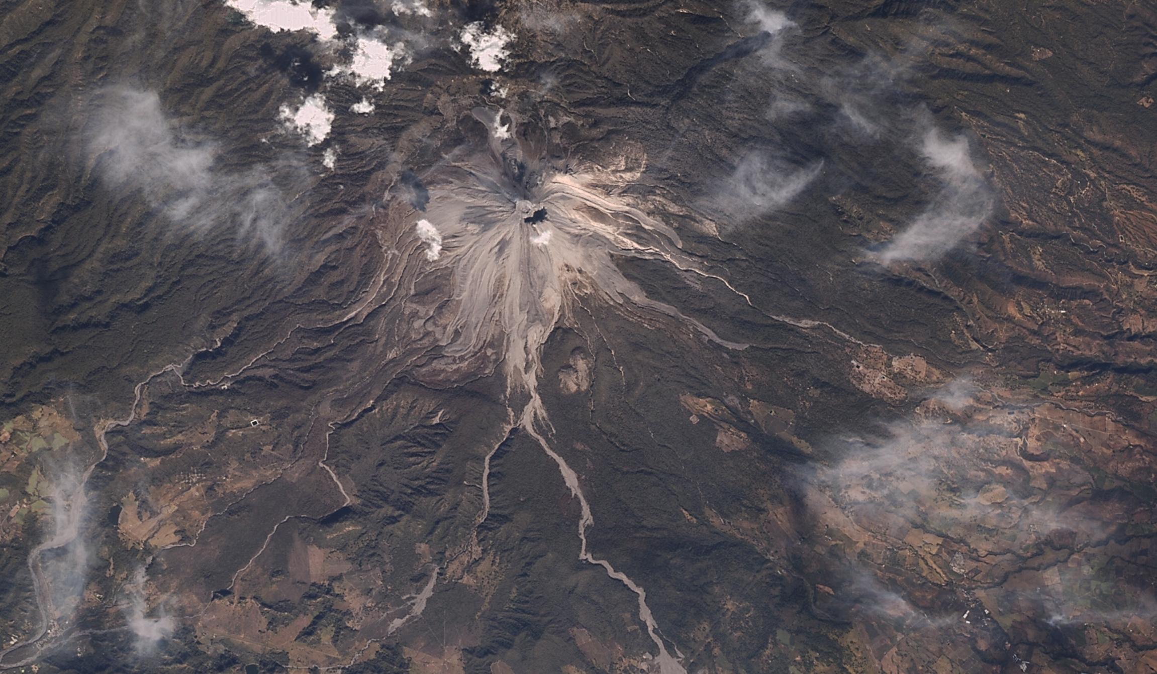 Colima Yanardağı Meksika 11 Ocak 2017